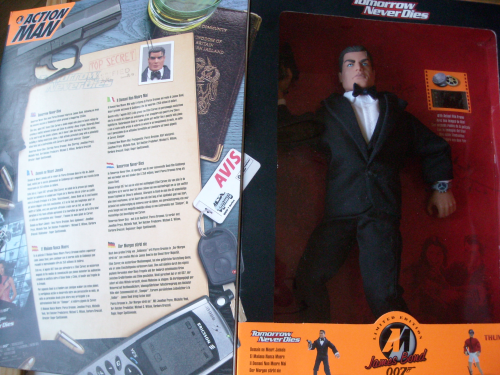 Action man James Bond smoking